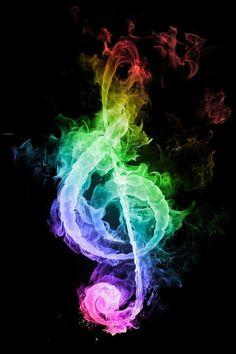 Muzieknoot gekleurd