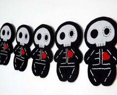 Day of the Dead Sugar Skull Felt Bunting by TheDollCityRocker, $10.00
