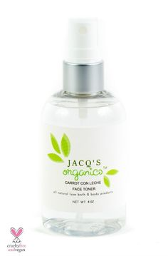 Balancing Sweet Orange Face Toner from Jacq's Organics. With orange water, peppermint oil & rosehip seed oil.