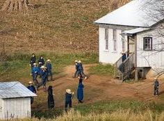 Orange County, Indiana - Amish School children