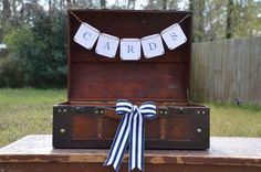 Nautical wedding suitcase Rustic wedding by SgtPeppersHeartsClub, $70.00