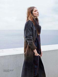 Chilly Days Ahead: Inga Marie Tekukwitha By Barrie Hullegie For Elle Netherlands September 2014 - Damir Doma