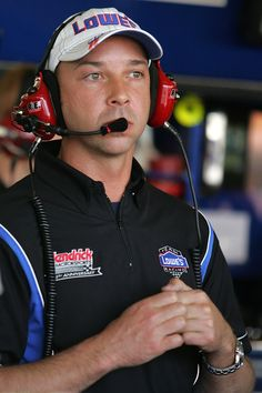 chad knaus   Chad Knaus Chad Knaus, crew chief for the #48 Lowe's Chevrolet, waits ...