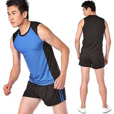 Athletic man wearing shorts and sports vest.  http://www.biggentsclothes.com/2014/12/02/big-tall-sportswear-fashion-tips-men/