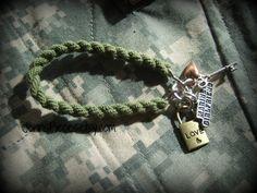 BRACELET: Marine Army Navy Or Air Force GirlFriend Boot Band Blouser Bracelet SSG18 soldier sailor air man  national guard usmc usaf usn n