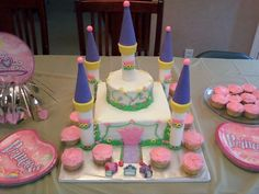 Castle cake at the princess tea party birthday. Created by my friend Amanda. My daughter loved it.