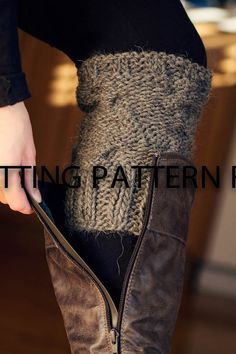 """KNITTING PATTERN ONLY for cabled boot cuffs, boot toppers, boot buffers, leg warmers-""""Boot Candy"""". $3.00, via Etsy."""