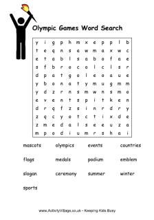 Olympic Games Puzzles - word searches, scrambles and more!