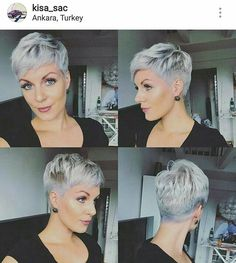 short grey hair over 70 Short Silver Hair, Short Grey Hair, Short Hair Cuts For Women, Grey Pixie Hair, Short Cuts, Gray Hair, Short Pixie Haircuts, Pixie Hairstyles, Formal Hairstyles