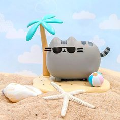 Take Pusheen to the beach this summer! Only available inside the Summer Box! Sign up at pusheenbox.com! #PusheenBox