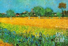 View of Arles with Irises Art Print by Vincent van Gogh at Art.com