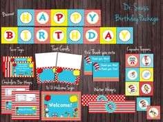 Dr. Seuss Birthday Party Package $20.50