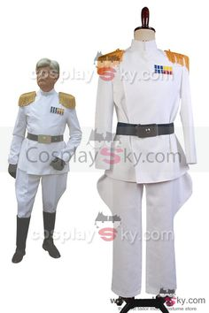 Star Wars Imperial Officer Uniforme Blanc d'Amiral  Cosplay Costume