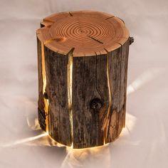 Image of Cracked Log Lamp