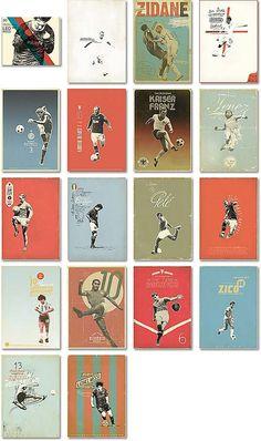■メッシもいるサッカー選手のレトロアレンジポスター25枚