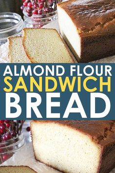 This easy almond flour bread recipe is perfect for anyone needing to eat a low carb diet like GAPS paleo and keto It s the best paleo bread for sandwiches too AlmondFlour GlutenFree Bread Paleo GAPS Keto KetoRecipes SandwichBread Keto Bread Coconut Flour, Almond Flour Recipes, Almond Flour Bread Recipe For Bread Machine, Almond Flour Carbs, Low Carb Almond Bread Recipe, Paleo Bread Recipe Easy, Healthy Homemade Bread, Almond Flour Biscuits, Vegan Baking Recipes