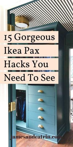 Ikea Wardrobe Hack, Ikea Pax Hack, Closet Hacks, Built In Wardrobe, Wardrobe Closet, Ikea Hacks, Ikea Pax Closet, Wardrobe Doors, Wardrobe Ideas