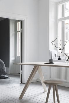Melo studio Stool and Table Ash, Styling Pella Hedeby, Photography Sara Medina Lind