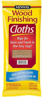 Minwax Wood Finishing Stain Cloths - for simple, mess free staining