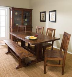 Dining room tables farmhouse style with wooden dining room buffet | Decolover.net