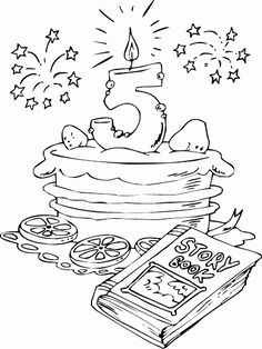 Coloring Pages For Grown Ups, Colouring Pages, Printable Coloring Pages, Adult Coloring Pages, Coloring Pages For Kids, Free Coloring, Coloring Books, Happy Birthday Coloring Pages, Happy 5th Birthday