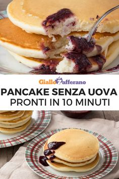Pancakes without eggs - Eggless pancakes are soft, fluffy and fragrant, perfect for a delicious but light breakfast. Breakfast Waffle Recipes, Breakfast Waffles, Pancakes Easy, Love Eat, I Love Food, Nutella, Cooking Time, Cooking Recipes, Healthy Cooking