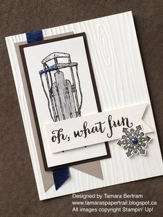 Handmade Cards; Handmade Christmas Cards; Winter Birthday Cards; Warm Winter Wishes; 2015 Holiday Catalogue; Stampin' Up!; Tamara's Paper Trail