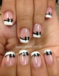 Cute bow nails :)