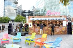 We attend the exclusive celeb filled opening of the Ciroc Vodka at London Riviera pop-up bar located on the southbank nearby Tower Bridge. Nespresso Club, Vodka Bar, Henley Royal Regatta, Pop Up Bar, Coffee Branding, Retail Therapy, Retail Design, Restaurant Design, Bars London
