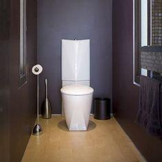 peinture prune pour deco wc design