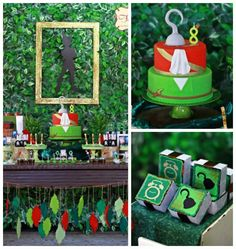 Peter Pan Themed Birthday Party via Kara's Party Ideas KarasPartyIdeas.com Printables, tutorials, supplies, desserts, cake, banners, favors, and more! #peterpan #PeterPan #peterpanparty #peterpanbirthday #neverland #captainhook #peterpanpartyideas #peterpancake (2)