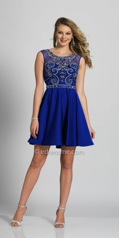 Homecoming fashion for women. I'm an affiliate marketer with links to shopstylecollective.com. When you click on a link or buy from the retailer, I earn a commission. Dave and Johnny Scroll Beaded Open Back Fit and Flare Homecoming Dress. http://shopstyle.it/l/humP