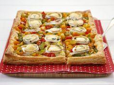 Rezept: Lauchkuchen mit Paprika und Ziegenkäse