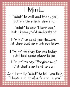 Mint Poem From Christianwomensministry.com Photo:  This Photo was uploaded by melaniemoore. Find other Mint Poem From Christianwomensministry.com picture...