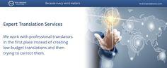 Expert Translation Services