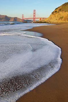 ~~Golden Gate Bridge At Sunset | high tide, Marshall's Beach, California by Sean Stieper~~