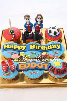 Cupcakes 3D set 9 cup: Barcelona FC. 160k