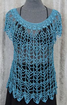 Dark Teal Blue Shiny Crochet Lace by CorrinsLaceAndWhimsy on Etsy, $79.00