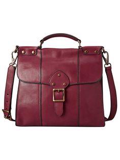 Fossil ZB5409 Vintage Revival Flap Handbag Brick Red