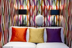 We are proud to say London Fabric Company is one of the best fabric shops of designer upholstery fabric in the UK. Striped Wallpaper, Wall Wallpaper, Interior Walls, Interior And Exterior, Pierre Frey Fabric, Wall Treatments, Decoration, Furniture Decor, Home Accessories