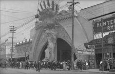 Entrance to Dreamland Amusement Park at Coney Island