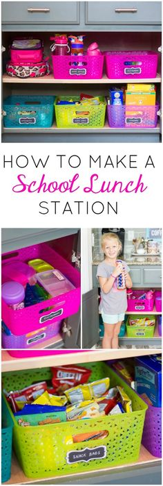How to make a school lunch station - so helpful for empowering kids to make…