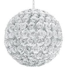 Crystorama Cypress 5 Light White Rose Sphere Chandelier
