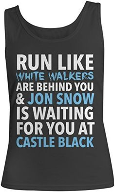 Kim Fit Fab Women's Game of Thrones Jon Snow Running Tank…