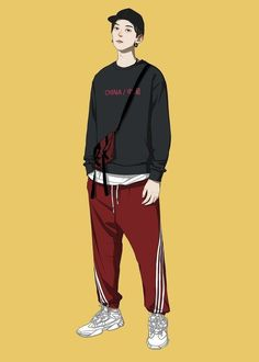 Gary Hsu Gary's media content and analytics Character Illustration, Graphic Design Illustration, Illustration Art, Fashion Design Drawings, Fashion Sketches, Cover Wattpad, Fashion Art, Mens Fashion, Boy Drawing