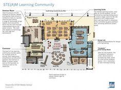 innovative school design for STEAM 21st Century Schools, 21st Century Classroom, 21st Century Learning, School Floor Plan, School Plan, School Ideas, Education Architecture, School Architecture, Classroom Architecture