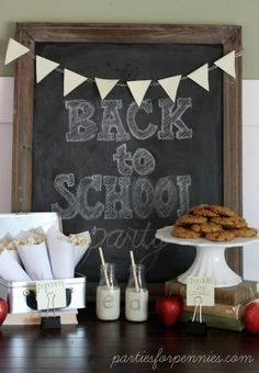 Back to school parties and crafts from Parties For Pennies and more!