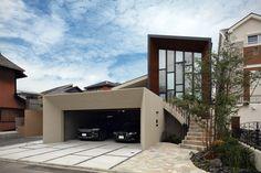 プール・水庭のある家 中庭と吹抜けのあるガレージハウス アーキッシュギャラリー