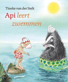 Api Leert Zwemmen School, Sports, Books, Languages, Camping, Gift, Fashion Styles, Rainbow Fish, Book Art