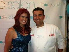 Cake Boss, Buddy & Lisa Valastro following Lisa's makeover at Moxie Salon. Pinned from